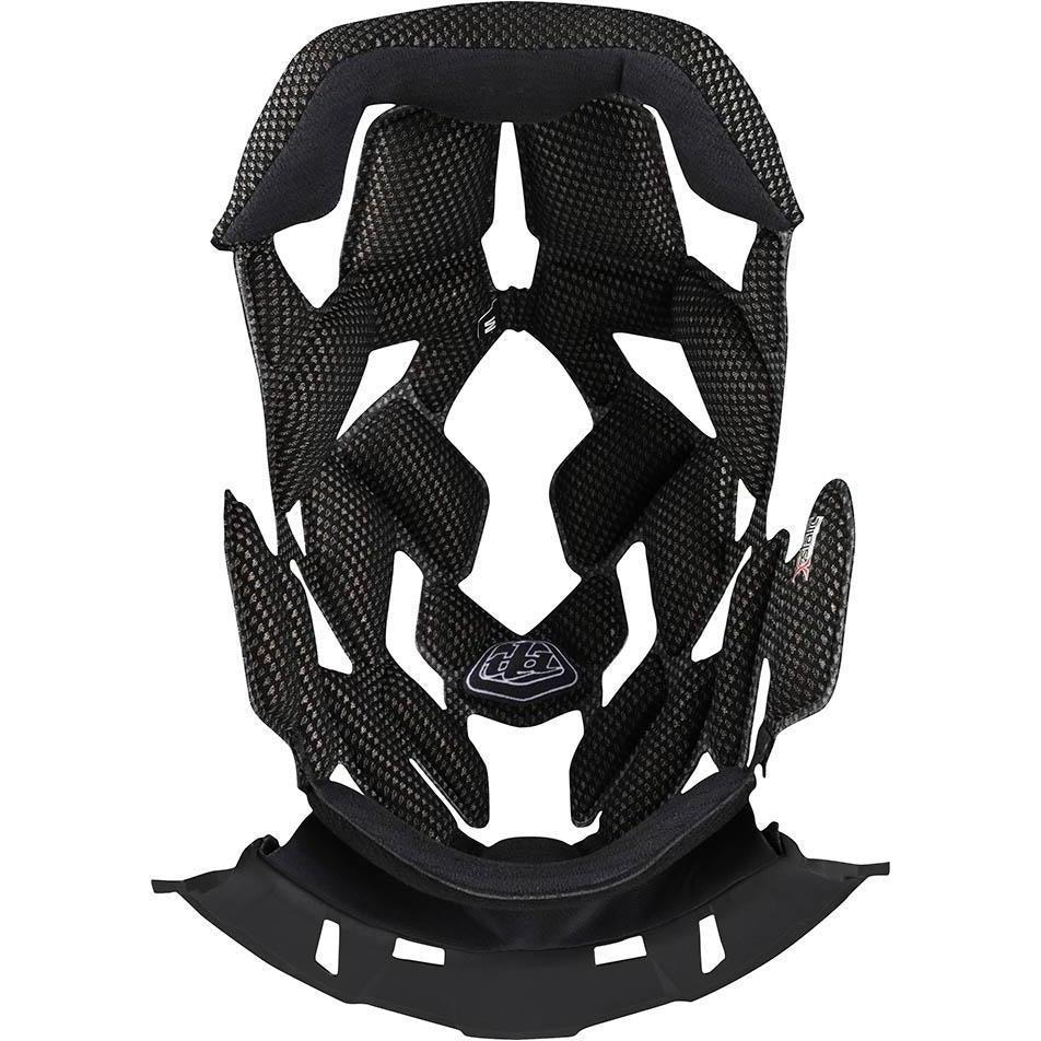 Troy Lee Designs-Troy Lee Designs D4 Helmet Replacement Headliner-Black-XS-TLD012786001-saddleback-elite-performance-cycling