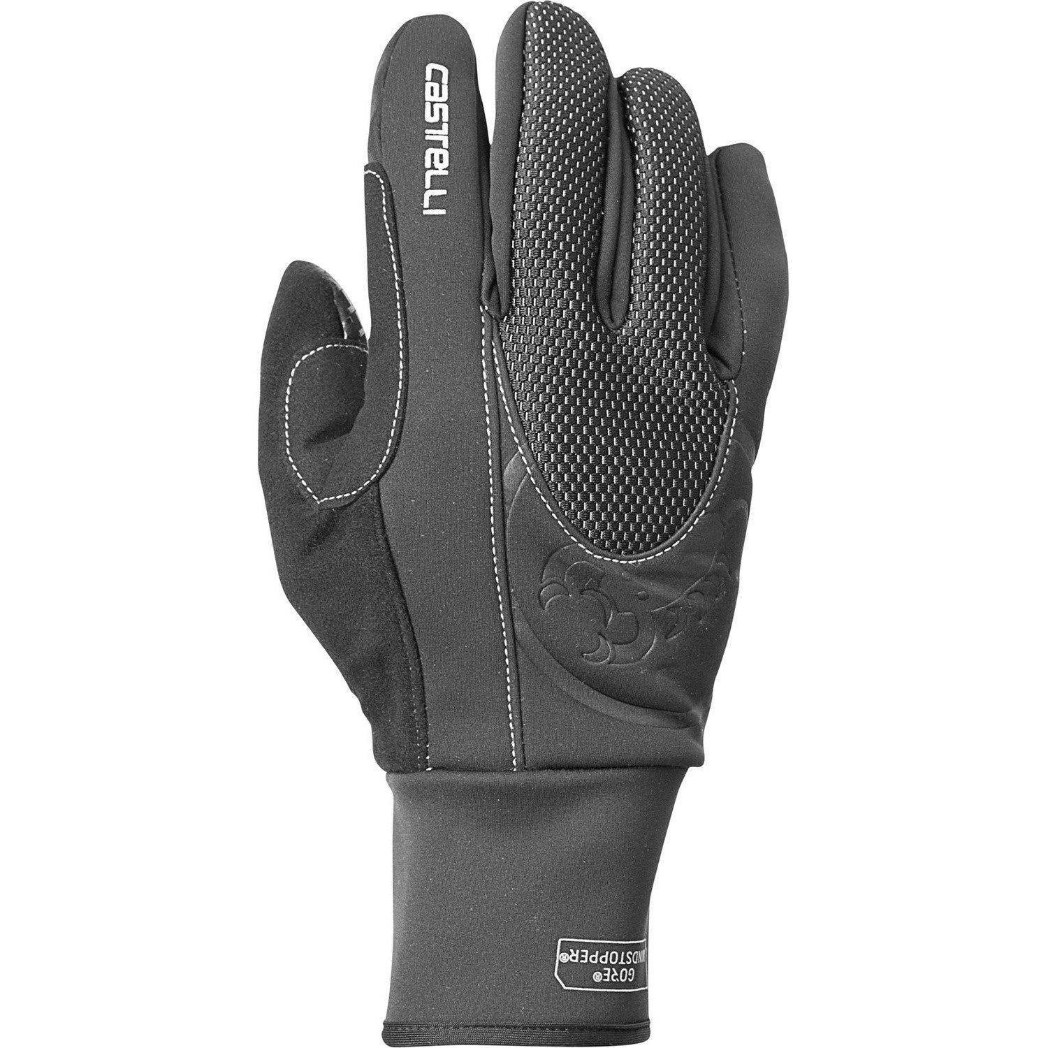 Castelli-Castelli Estremo Winter Gloves-Black-XS-CS125390101-saddleback-elite-performance-cycling