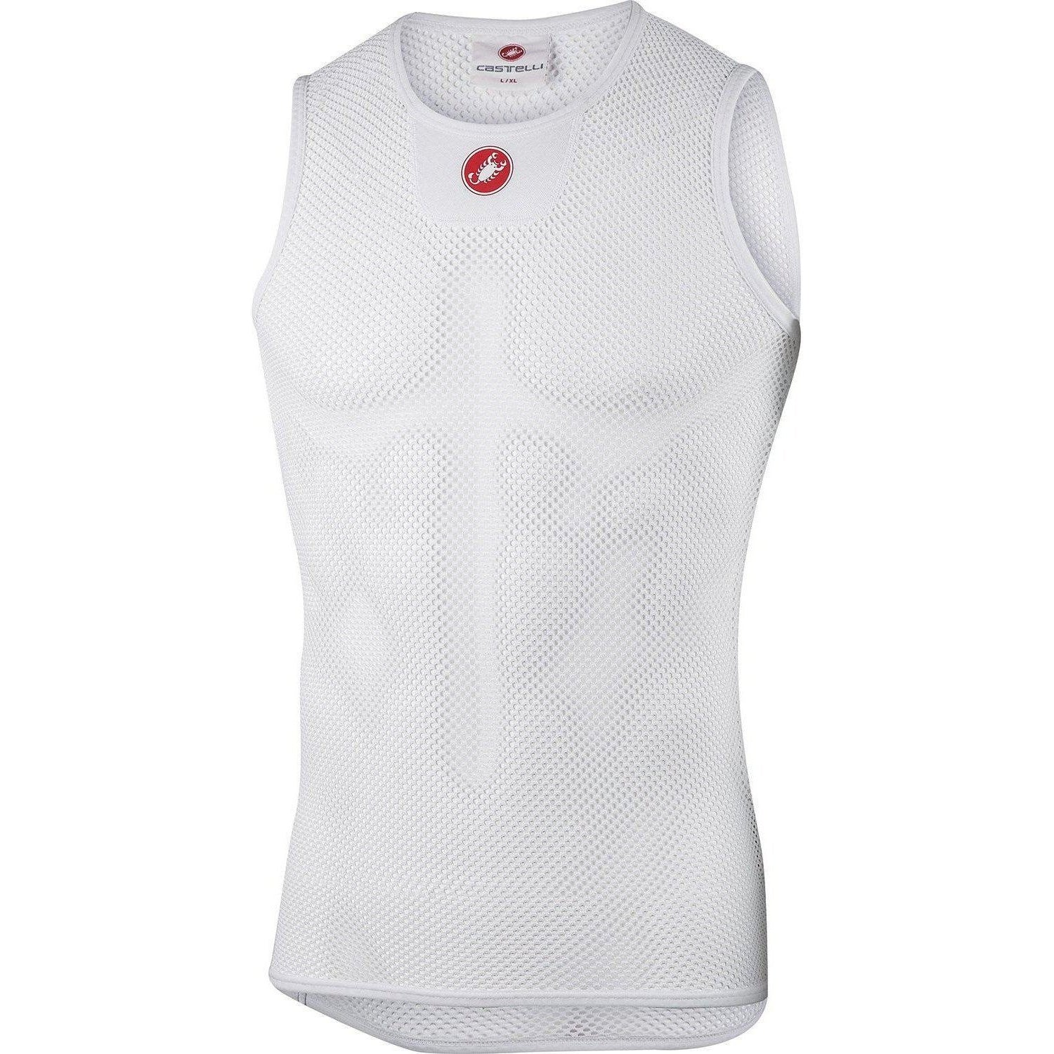 Castelli-Castelli Core Mesh 3 Sleeveless Base Layer-White-S/M-CS1702800109-saddleback-elite-performance-cycling