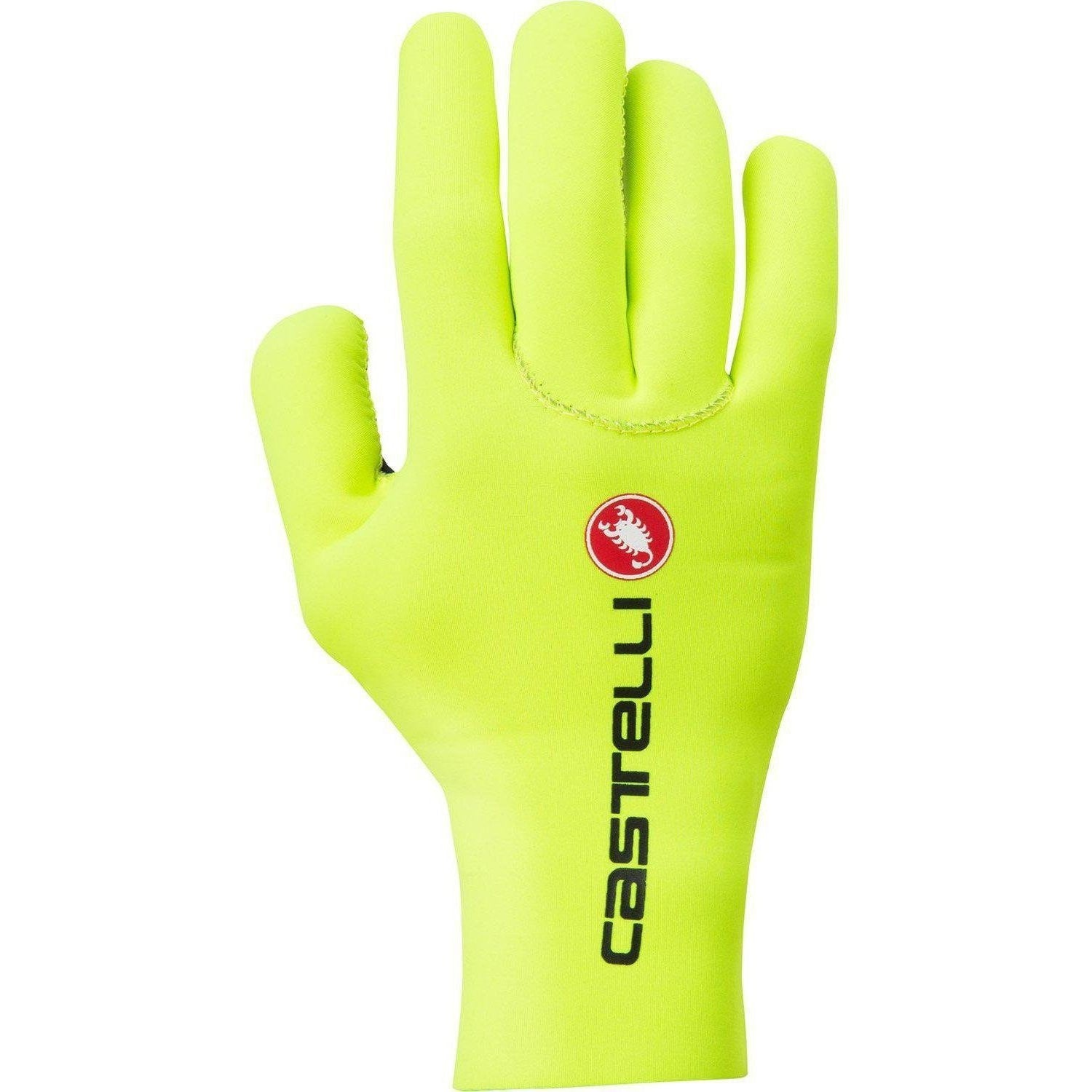Castelli-Castelli Diluvio C Gloves-Yellow Fluo-S/M-CS1752403209-saddleback-elite-performance-cycling