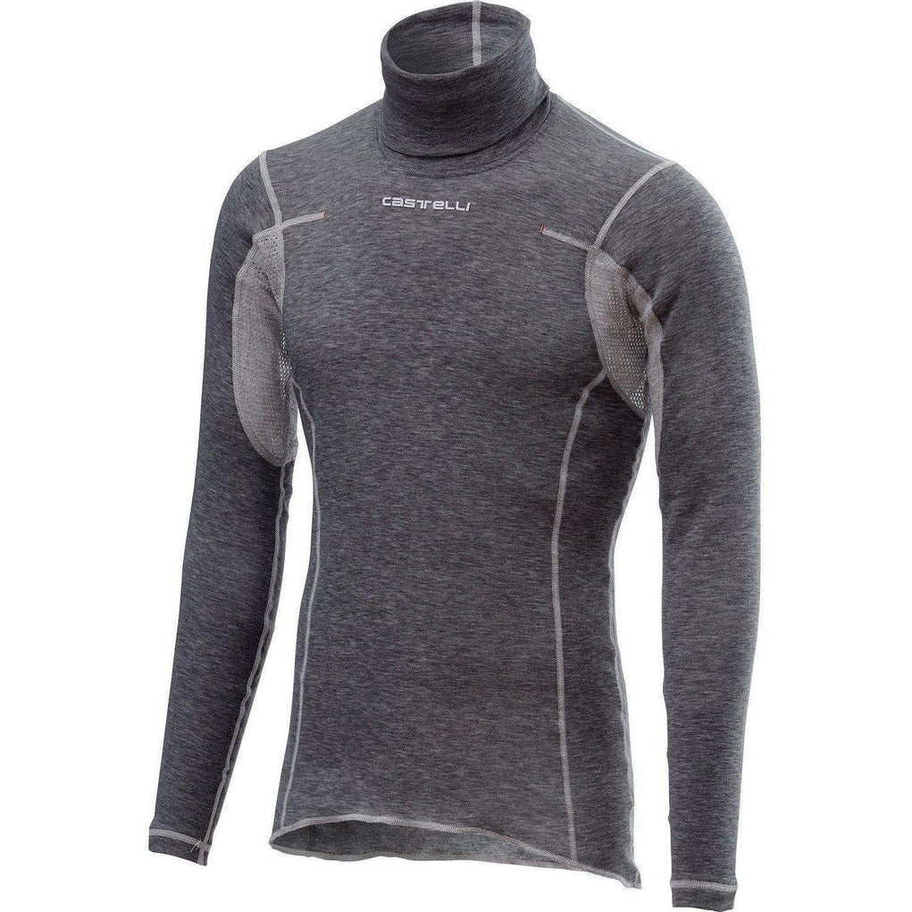 Castelli-Castelli Flanders Warm Base Layer / Neck Warmer-Gray-XS-CS185220081-saddleback-elite-performance-cycling