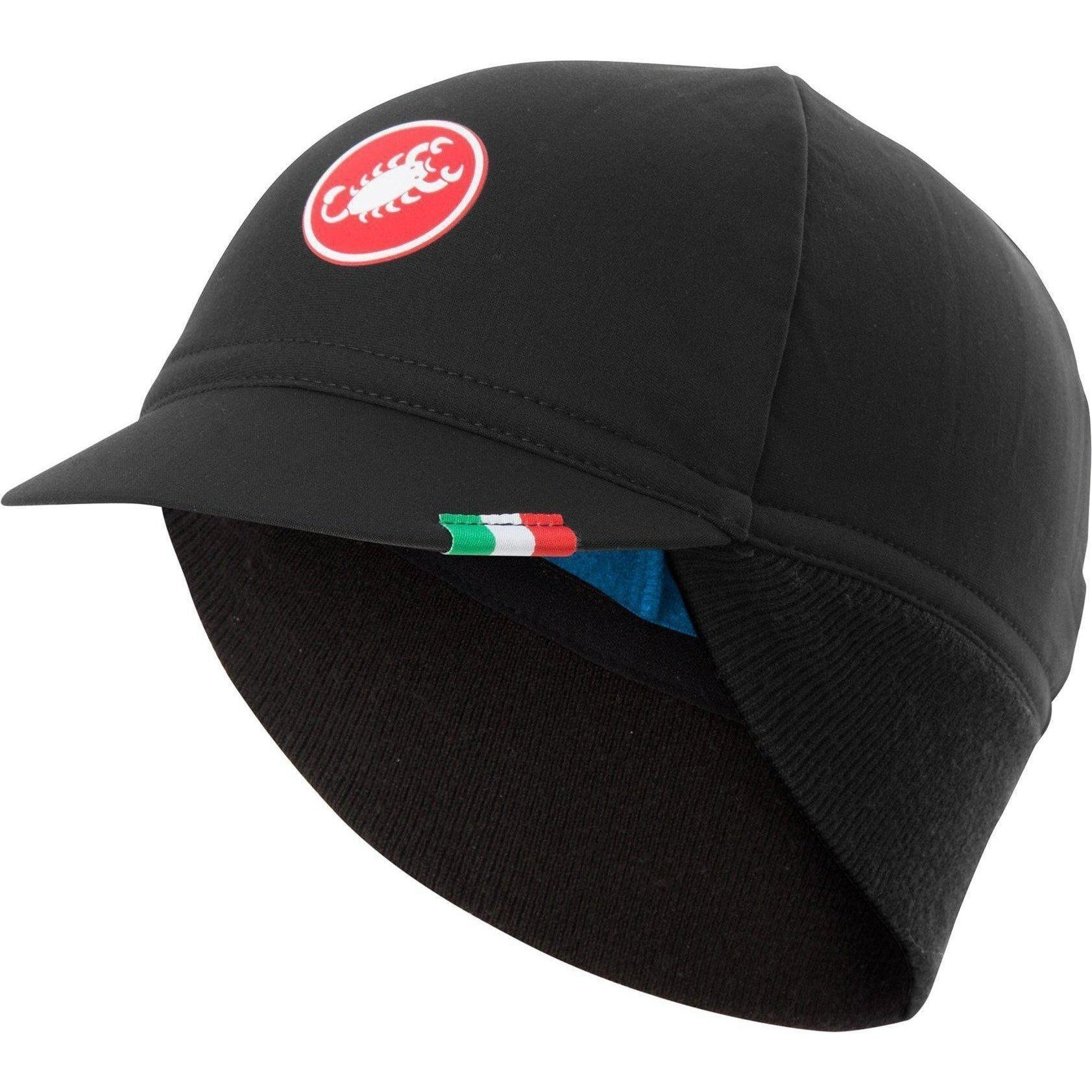 Castelli-Castelli Difesa Thermal Cap-Black/Red Lining-UNI-CS185340108-saddleback-elite-performance-cycling