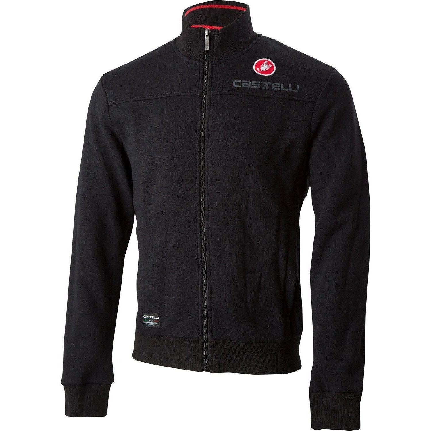 Castelli-Castelli Milano Track Jacket-Black-XS-CS185580101-saddleback-elite-performance-cycling