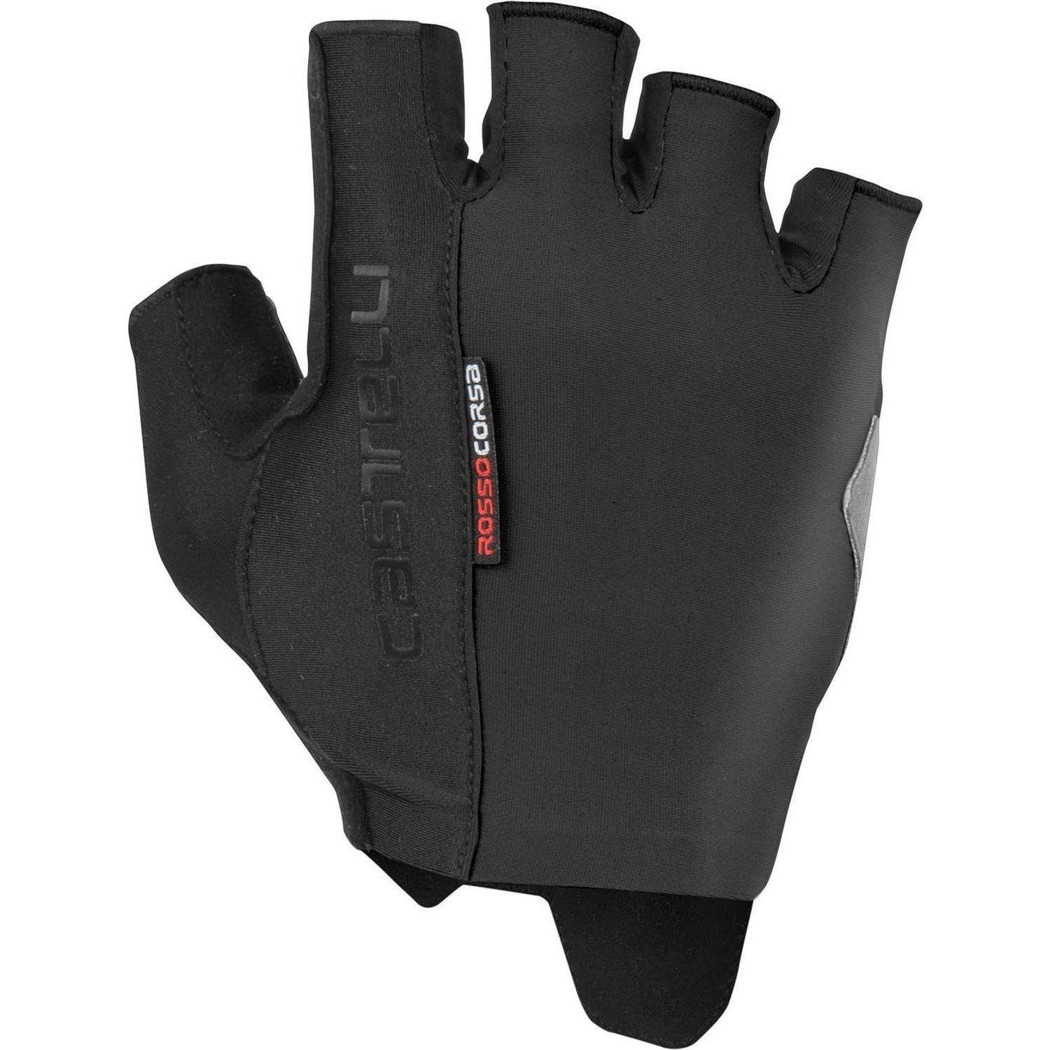 Castelli-Castelli Rosso Corsa Espresso Gloves-Black-XS-CS190260101-saddleback-elite-performance-cycling