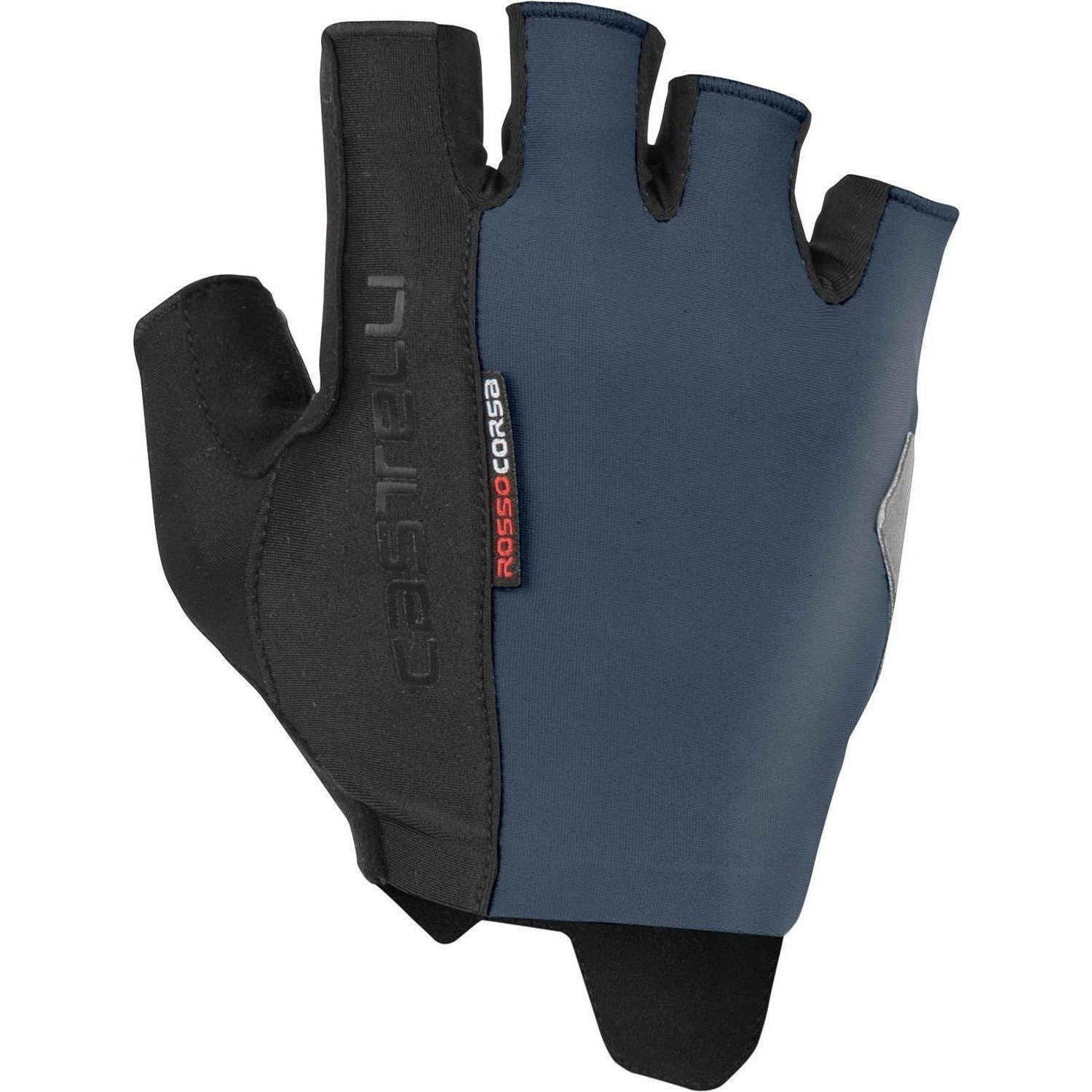 Castelli-Castelli Rosso Corsa Espresso Gloves-Dark Steel Blue-XS-CS190260701-saddleback-elite-performance-cycling
