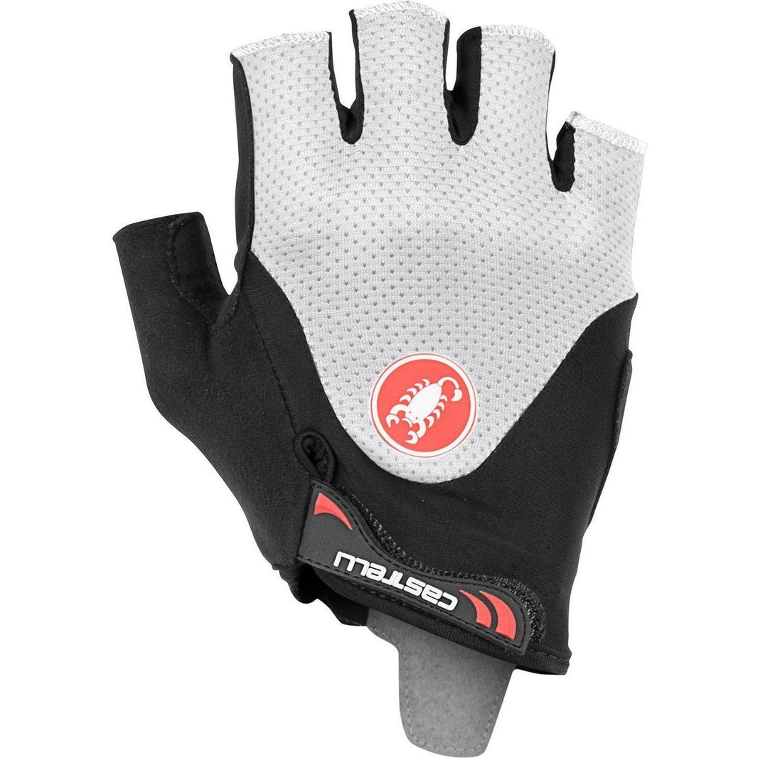 Castelli-Castelli Arenberg Gel 2 Gloves-Black/Ivory-XS-CS190281651-saddleback-elite-performance-cycling