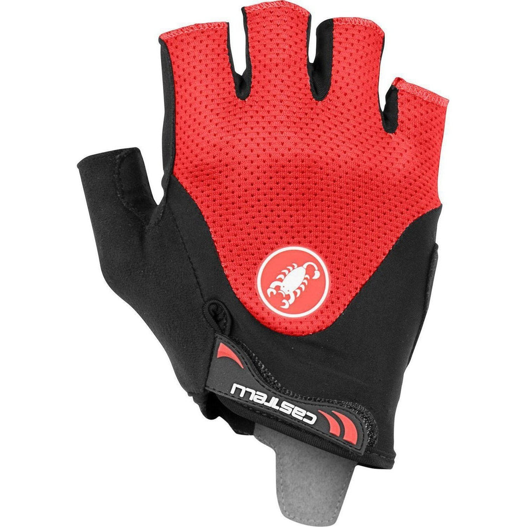Castelli-Castelli Arenberg Gel 2 Gloves-Black/Red-XS-CS190282311-saddleback-elite-performance-cycling