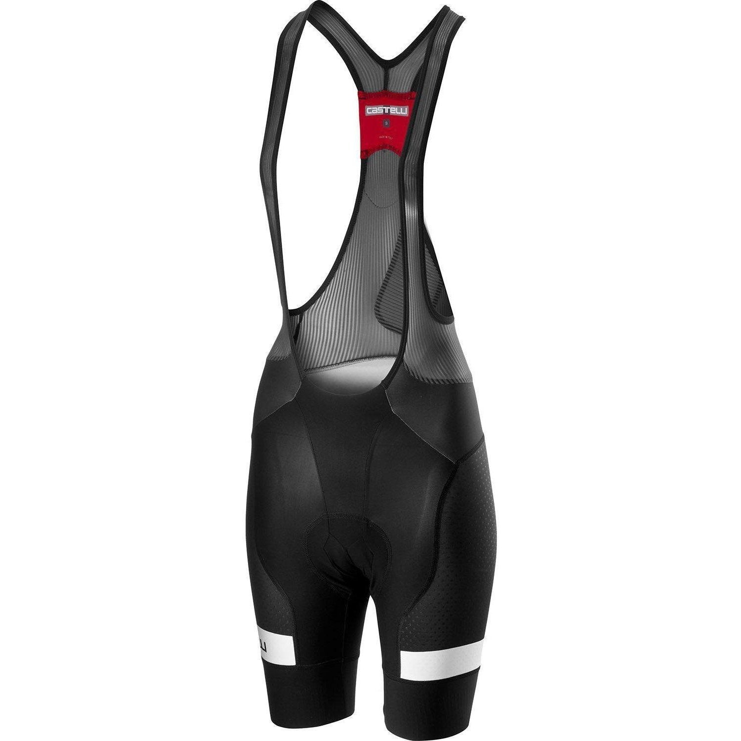 Castelli-Castelli Free Aero Race 4 Team Women's Bib Shorts-Black/White-XS-CS190771011-saddleback-elite-performance-cycling