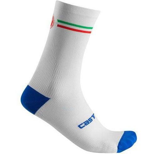 Castelli-Castelli Italia 15 Cycling Socks-White-S/M-CS2011900109-saddleback-elite-performance-cycling