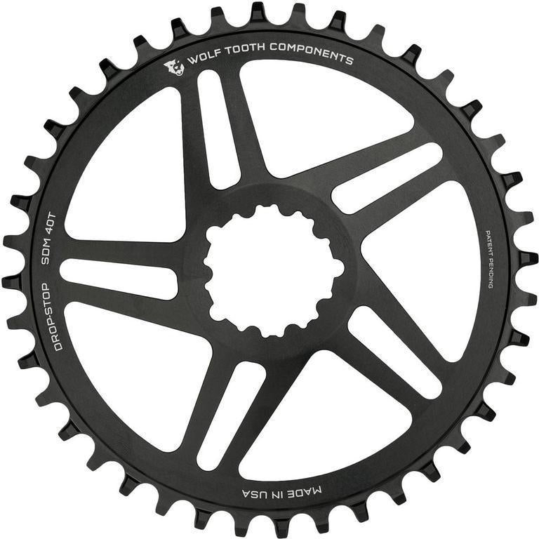 Wolf Tooth-Wolf Tooth Direct Mount Flattop Chainring for SRAM Cranks-38T-Black-WTSDM38FT-saddleback-elite-performance-cycling