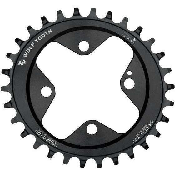 Wolf Tooth-Wolf Tooth Elliptical 64 BCD Chainring-Black-28t-WTOVAL6428-saddleback-elite-performance-cycling