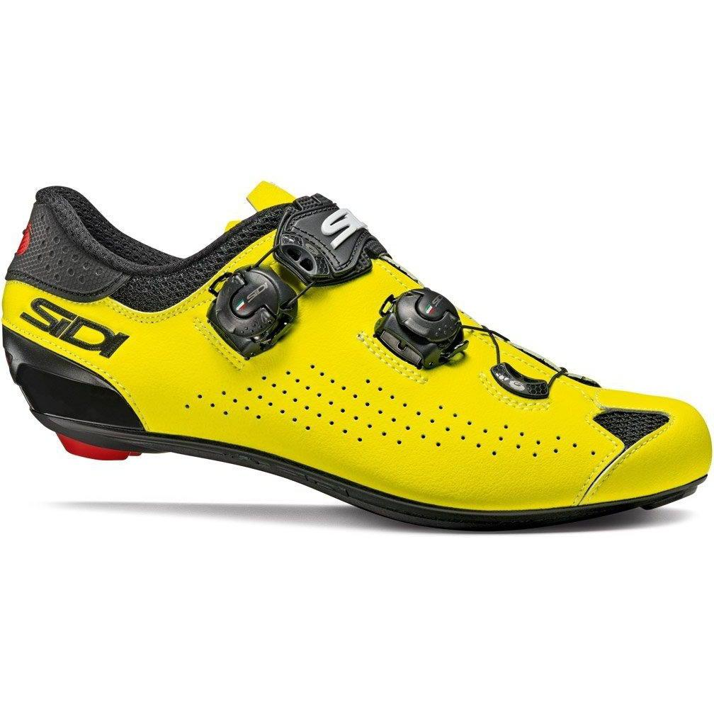 Sidi-Sidi Genius 10 Road Shoes - Fluo-36-Black/Yellow Fluo-SIGENIUS10NEGIFL36-saddleback-elite-performance-cycling
