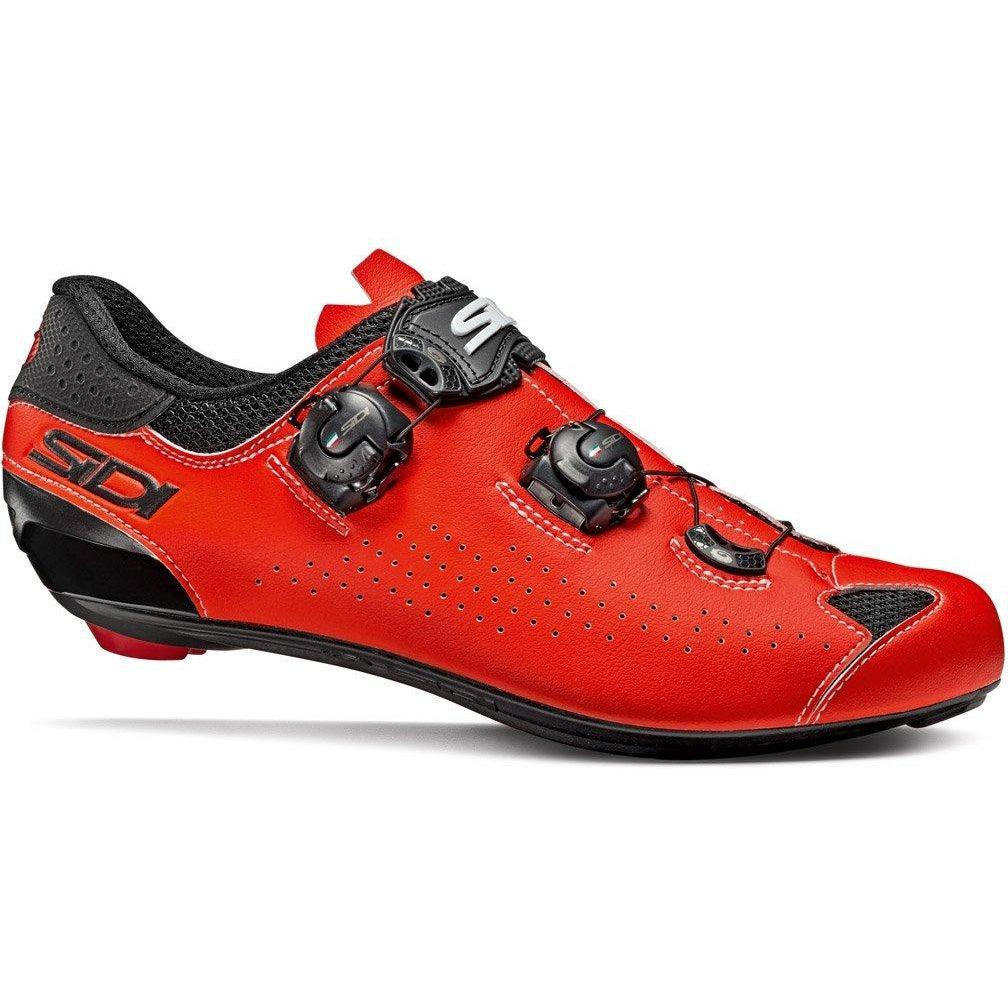 Sidi-Sidi Genius 10 Road Shoes - Fluo-36-Black/Red Fluo-SIGENIUS10NEROSFL36-saddleback-elite-performance-cycling