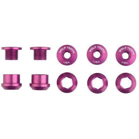 Wolf Tooth-Wolf Tooth Chainring Bolts - Set of 5-Purple-Set of 5-WT5CBCN06PRP-saddleback-elite-performance-cycling