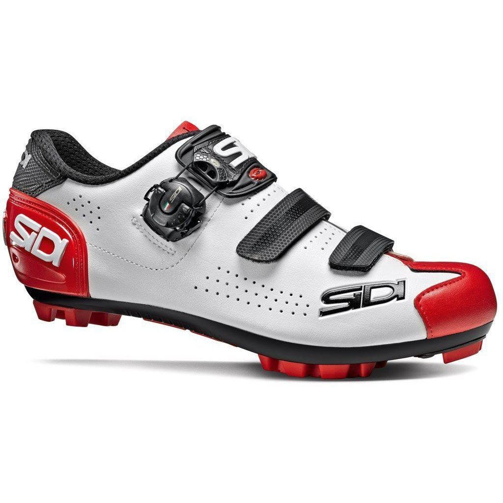 Sidi-Sidi Trace 2 MTB Shoes-36-White/Black/Red-SITRACE2BINERO36-saddleback-elite-performance-cycling