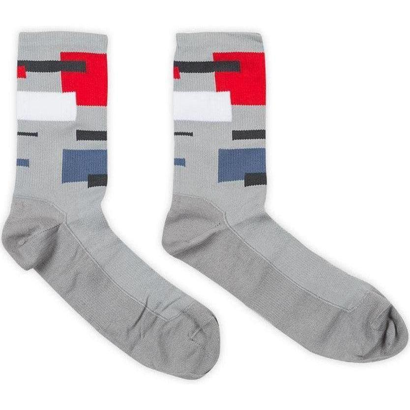 Chpt3-Chpt3 Vuelta 1.51 Socks-Grey/White/Fire Red-S/M-CST920010280209-saddleback-elite-performance-cycling