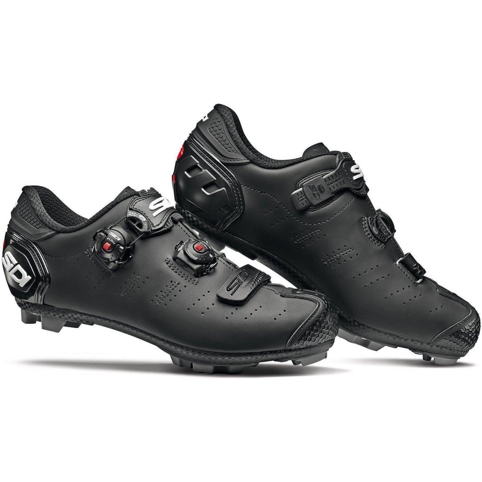Sidi-Sidi Dragon 5 SRS Mega Fit MTB Shoes - Matt-Matt Black-40-SIDRAG5CMMATNEOP40-saddleback-elite-performance-cycling