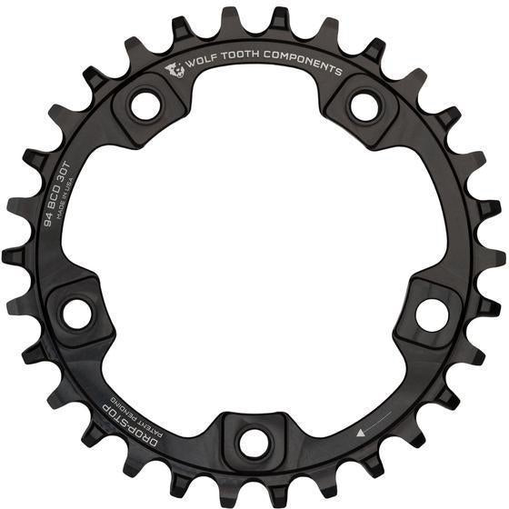 Wolf Tooth-Wolf Tooth 94 BCD 5-Arm Chainring-Black-30t-WTSUR59430-saddleback-elite-performance-cycling