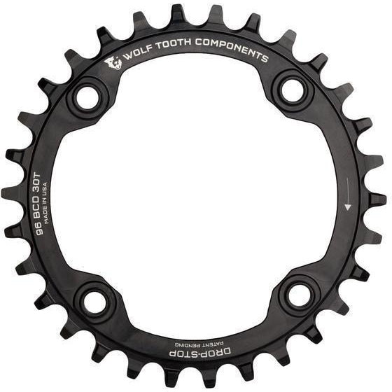 Wolf Tooth-Wolf Tooth 96 BCD Chainring for Shimano Compact Triple-Black-30t-WTSYM9630-saddleback-elite-performance-cycling
