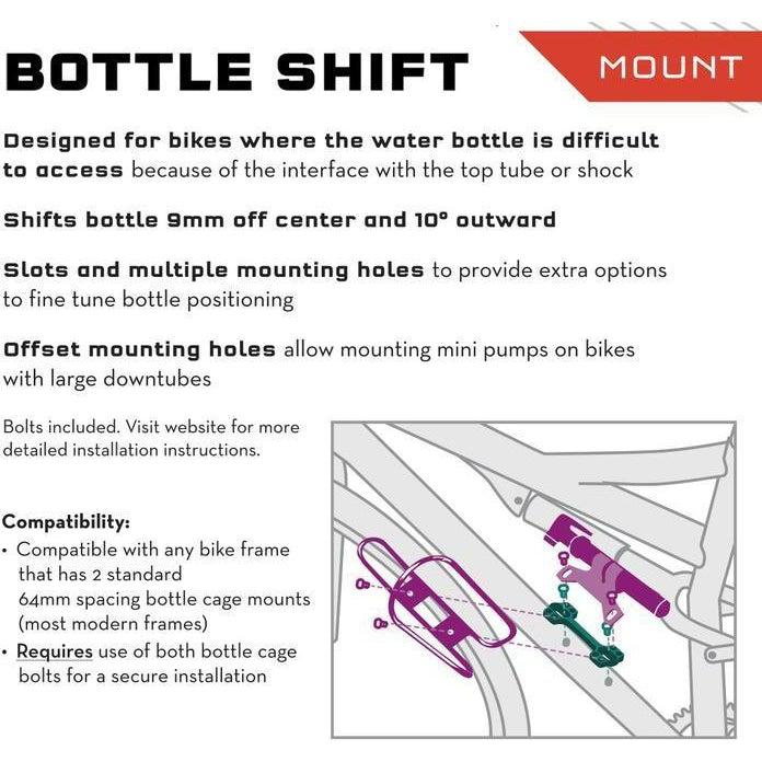 Wolf Tooth-Wolf Tooth B-RAD Bottle Shift-WTBRADBTLSHIFT-saddleback-elite-performance-cycling