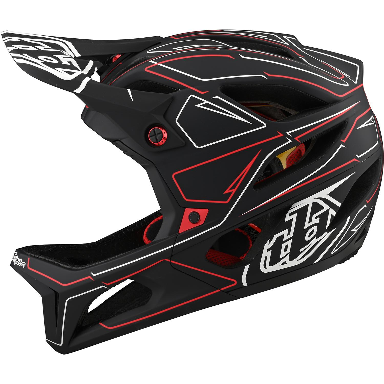 Troy Lee Designs-Troy Lee Designs Stage MIPS Helmet - Born From Paint Limited Edition-Pinstripe - Black/Red-XS/S-TLD115317001-saddleback-elite-performance-cycling