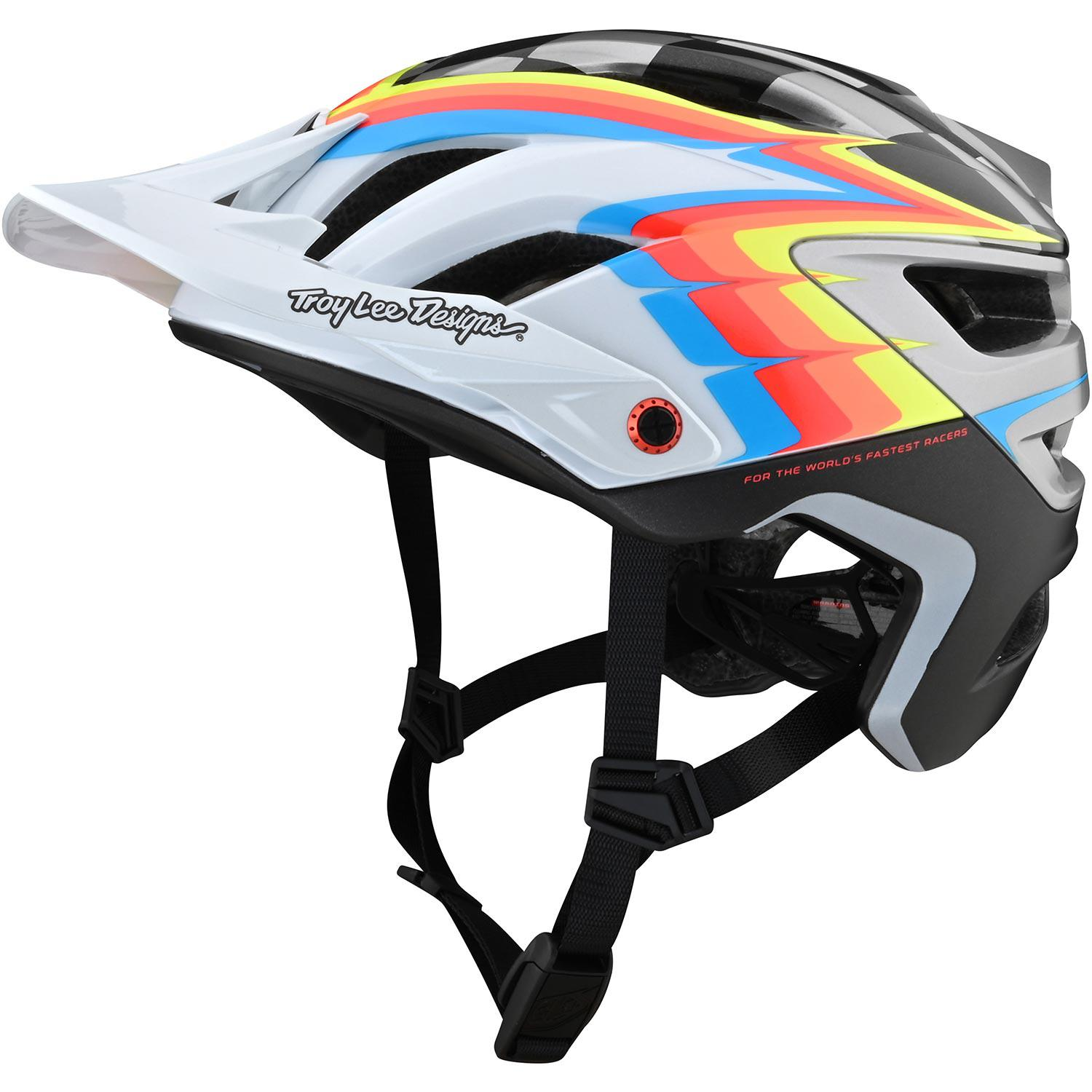 Troy Lee Designs-Troy Lee Designs A3 MIPS Helmet - Born From Paint Limited Edition-Sideways - White/Gray-XS/S-TLD150316001-saddleback-elite-performance-cycling