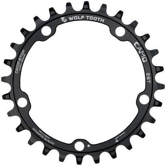 Wolf Tooth-Wolf Tooth CAMO Aluminium Chainring-Black-28t-WTCAMOAL28-saddleback-elite-performance-cycling