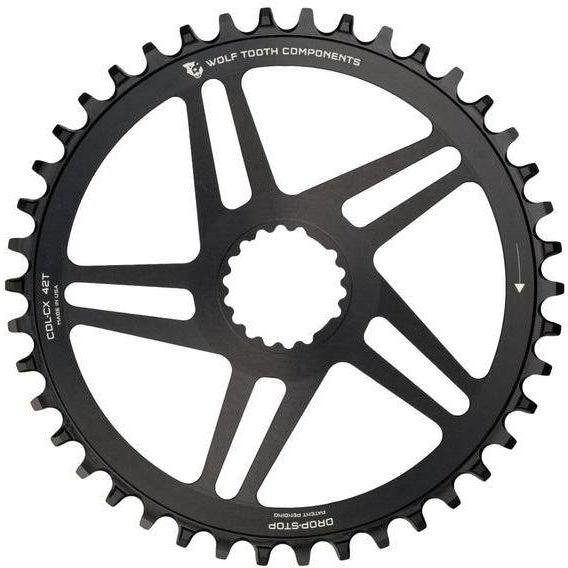Wolf Tooth-Wolf Tooth Direct Mount Chainring for Cannondale Hollowgram CX and Road Offset-Black-38t-WTCDL38X-saddleback-elite-performance-cycling