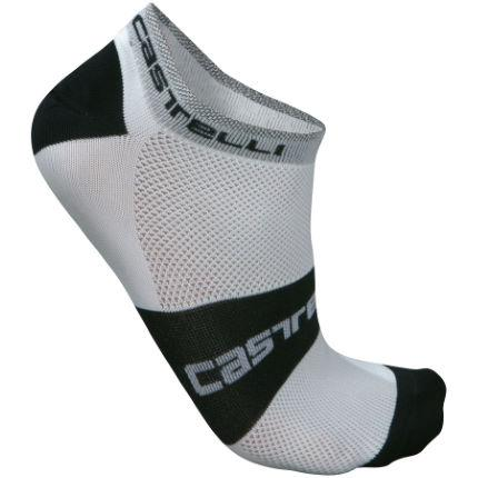 Castelli-Castelli Lowboy Socks-White/Black-S/M-CS706900109-saddleback-elite-performance-cycling