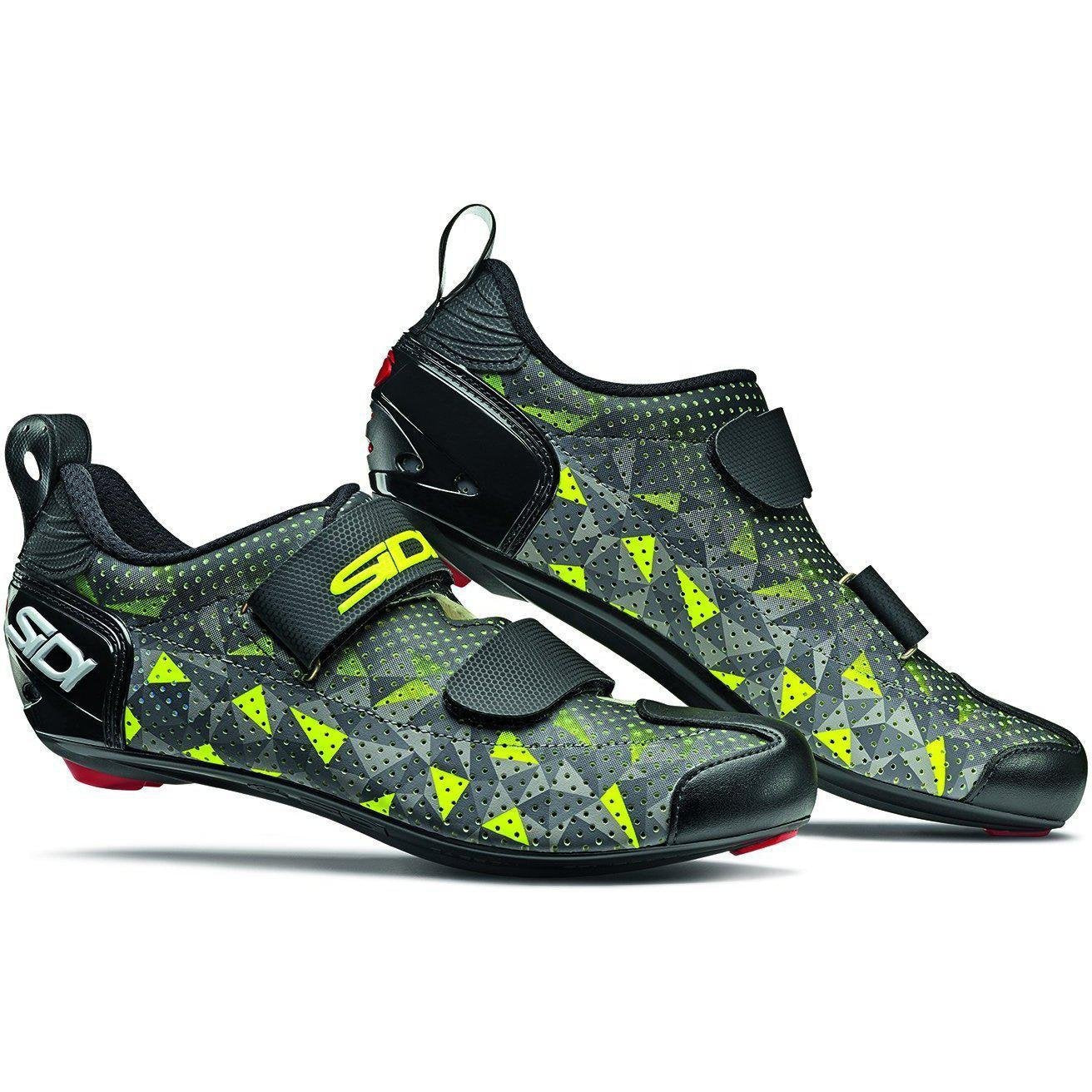 SIDI-Sidi T-5 Air Triathlon Shoes-38-Grey/Yellow/Black-SIT5AIRGRGINE38-saddleback-elite-performance-cycling
