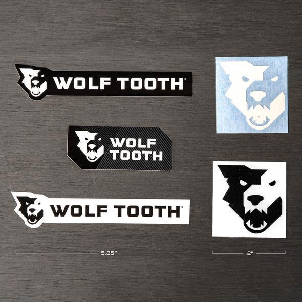 Wolf Tooth-Wolf Tooth Decal - 5 Pack-Black/White-5 PACK-WTDECAL5-saddleback-elite-performance-cycling
