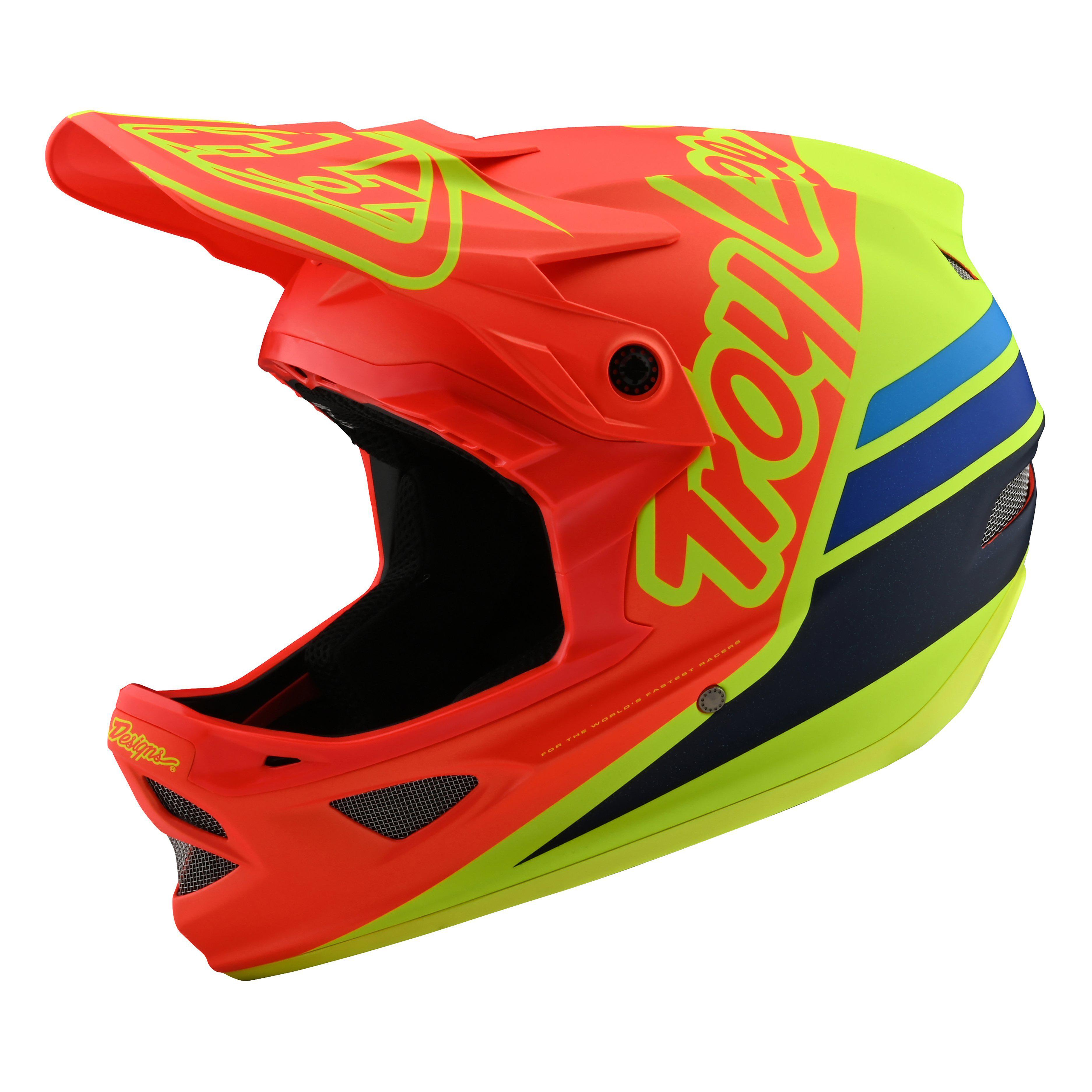 Troy Lee Designs-Troy Lee Designs D3 Fiberlite Helmet-Silhouette Orange/Yellow-XS-TLD198757021-saddleback-elite-performance-cycling