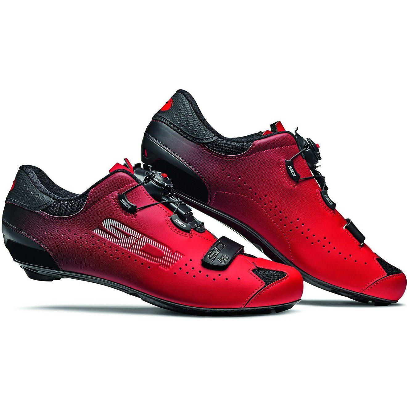 Sidi-Sidi Sixty Road Shoes-Black/Red-38-SISIXTYNERO38-saddleback-elite-performance-cycling
