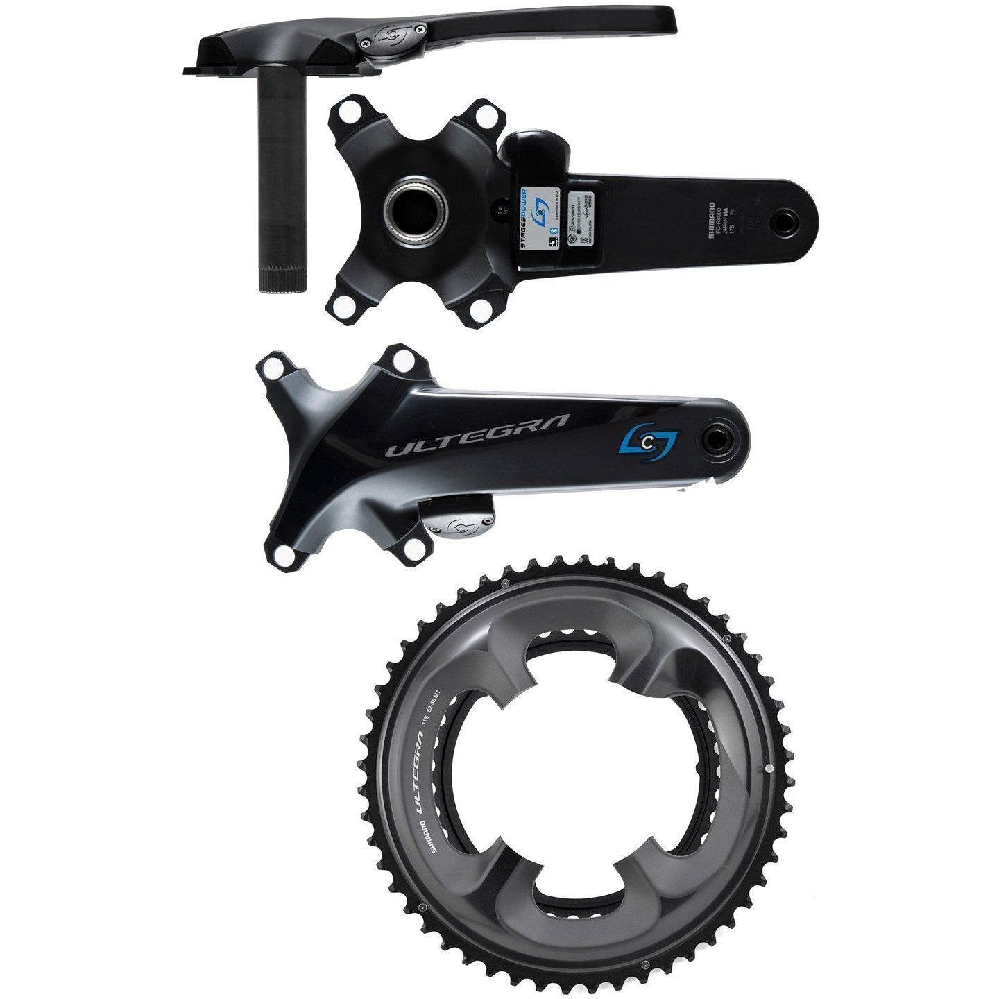 Stages-Stages Power R - Shimano Ultegra R8000-Grey-165mm-50/34-STAUR8RA4-saddleback-elite-performance-cycling