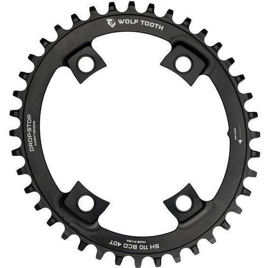 Wolf Tooth-Wolf Tooth Elliptical 110 BCD Asymmetric 4-Bolt for Shimano Cranks-Black-42t-WTOVALSH11042-saddleback-elite-performance-cycling