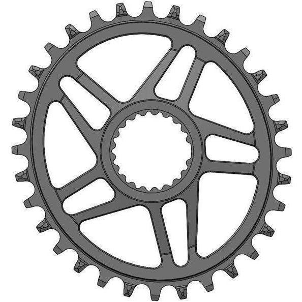 Wolf Tooth Ellipitical Direct Mount Chainring for Shimano Cranks – HG+