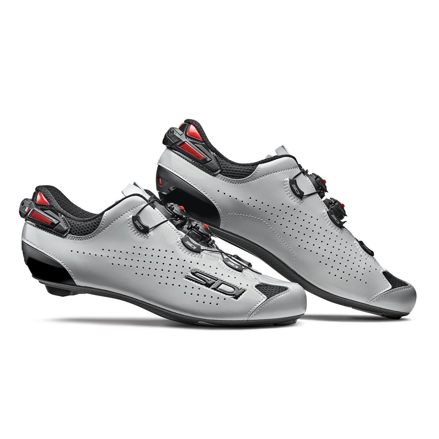 Sidi-Sidi Shot 2 Road Shoes-Black/Grey Lucindo-38-SISHOT2NEGRILU38-saddleback-elite-performance-cycling