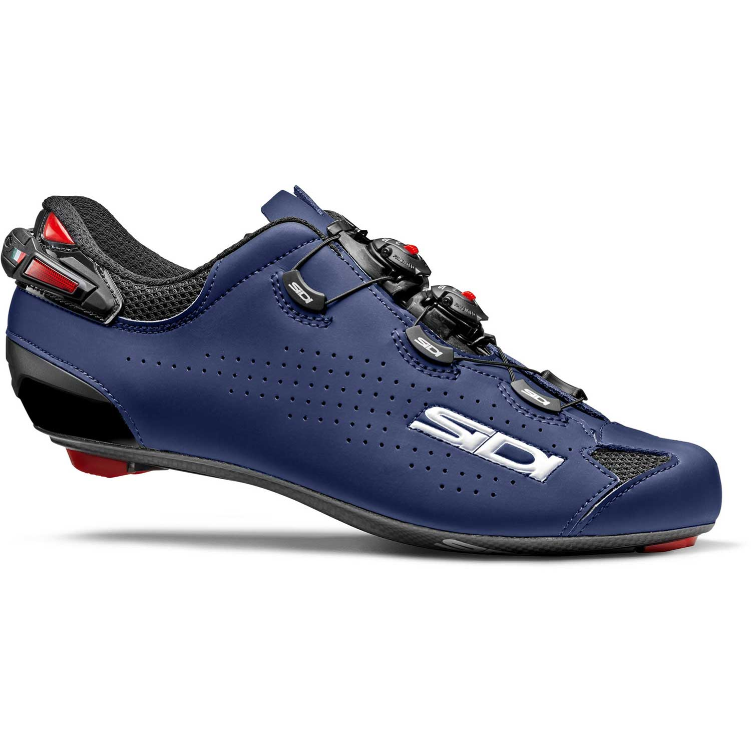 Sidi-Sidi Shot 2 Road Shoes-Matt Navy Blue/Black-38-SISHOT2NEBLOP38-saddleback-elite-performance-cycling