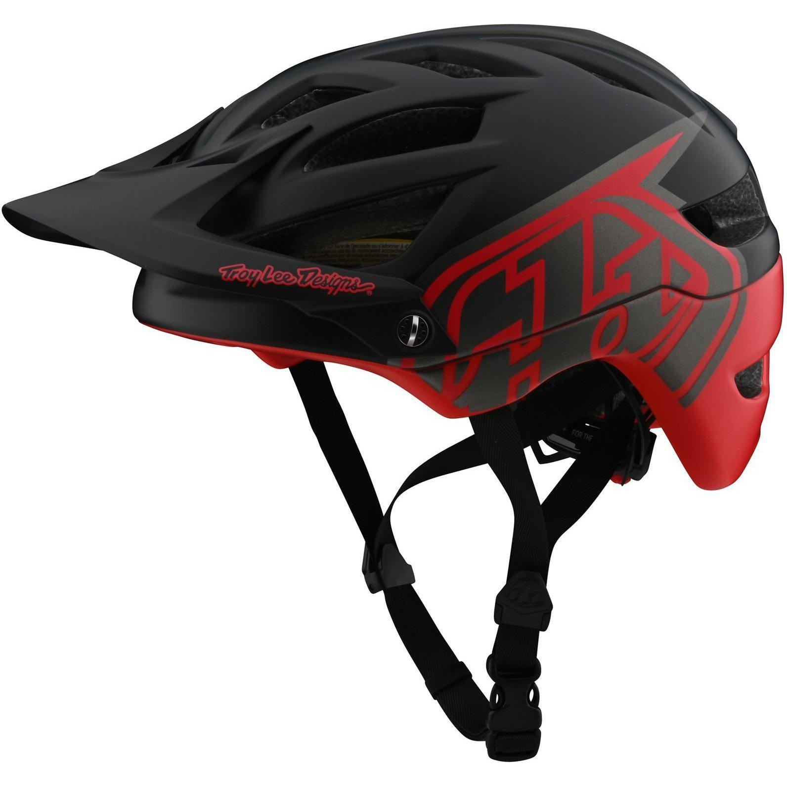 Troy Lee Designs-Troy Lee Designs A1 Classic MIPS Helmet-Classic - Black/Red-M/L-TLD190111163-saddleback-elite-performance-cycling