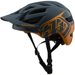 Troy Lee Designs-Troy Lee Designs A1 Classic MIPS Helmet - Youth-Classic - Gray/Gold-YOUTH-TLD169111000-saddleback-elite-performance-cycling