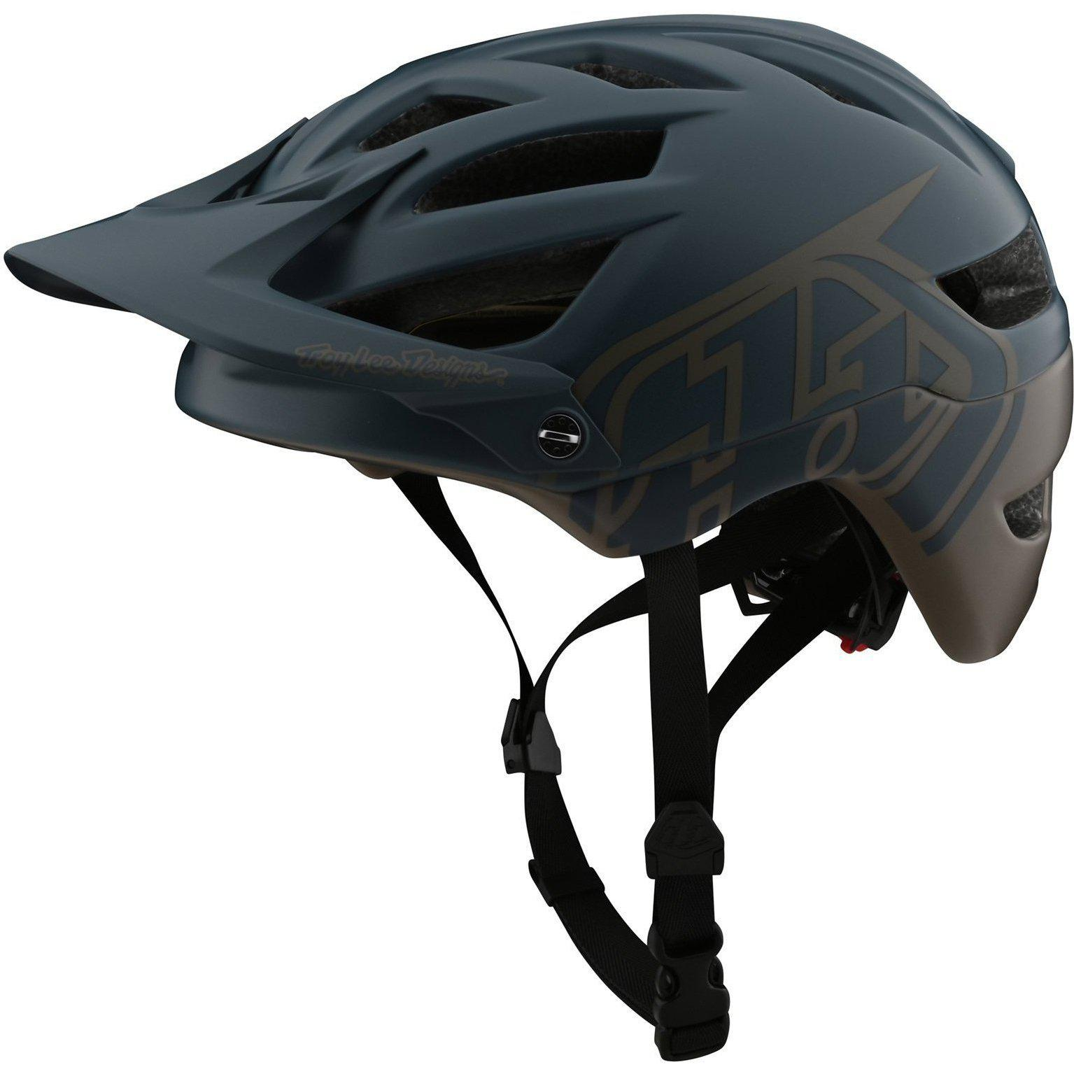 Troy Lee Designs-Troy Lee Designs A1 Classic MIPS Helmet-Classic - Gray/Walnut-M/L-TLD190111123-saddleback-elite-performance-cycling