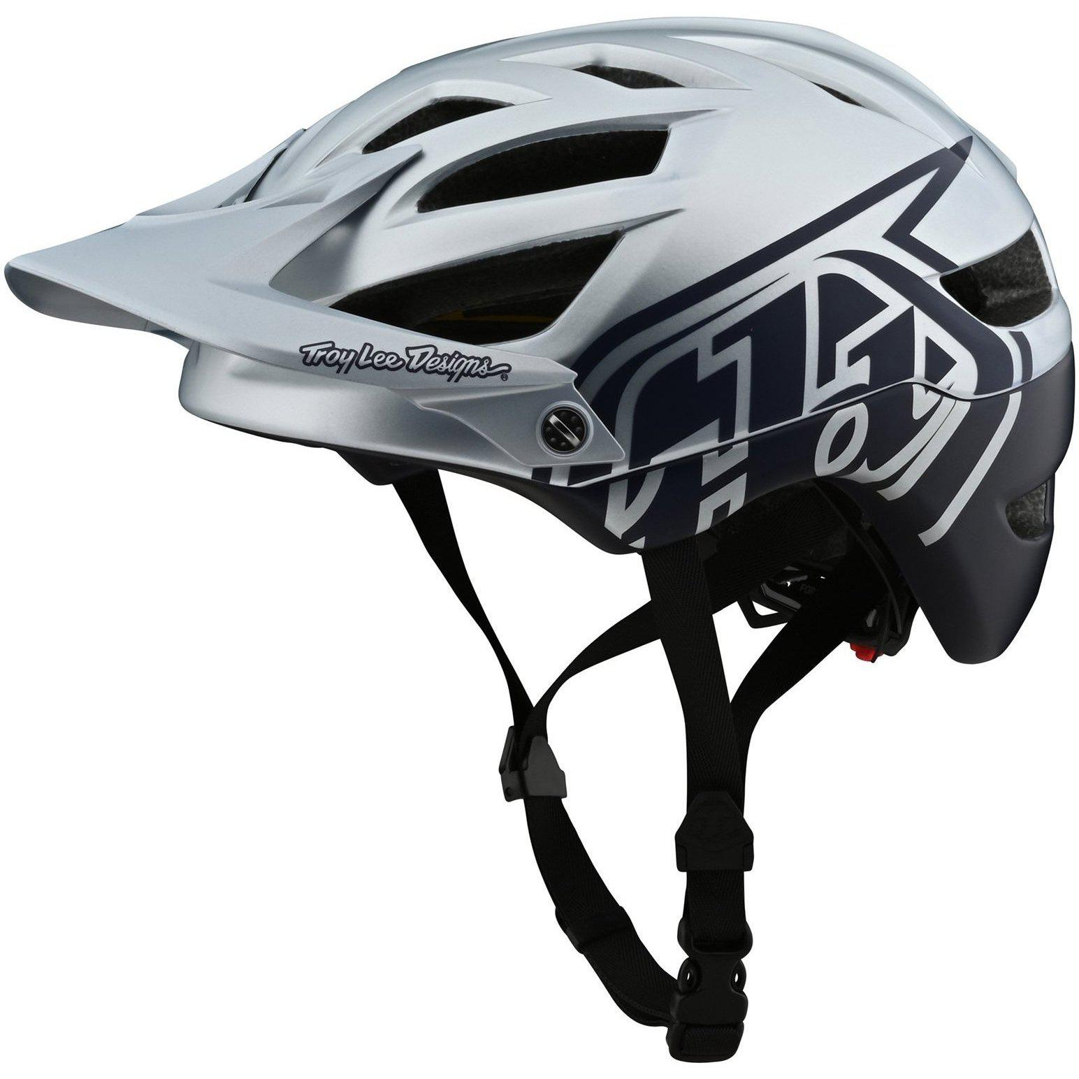 Troy Lee Designs-Troy Lee Designs A1 Classic MIPS Helmet-Classic - Silver/Navy-M/L-TLD190111133-saddleback-elite-performance-cycling