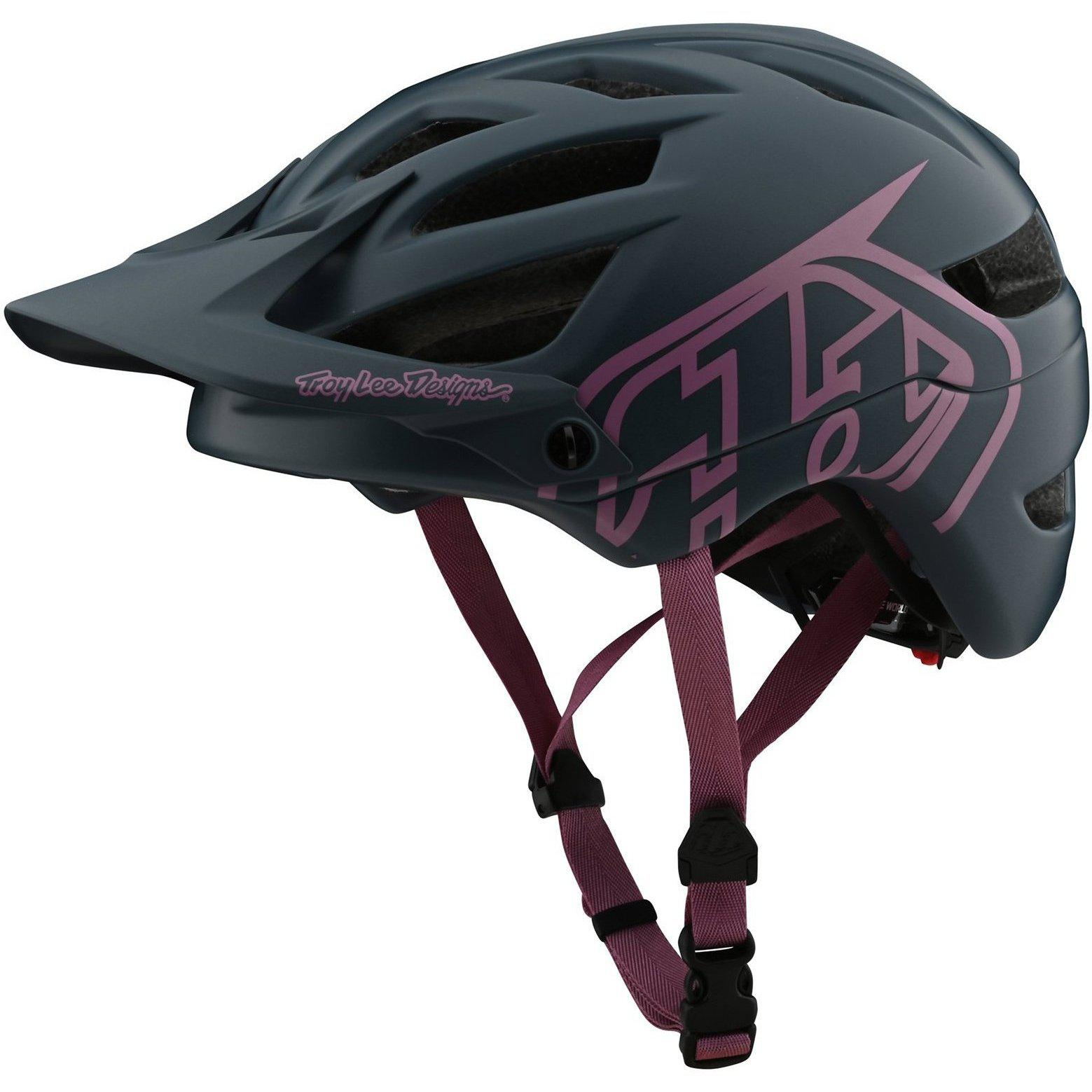 Troy Lee Designs-Troy Lee Designs A1 Drone Helmet-Drone - Gray/Pink-M/L-TLD131097123-saddleback-elite-performance-cycling