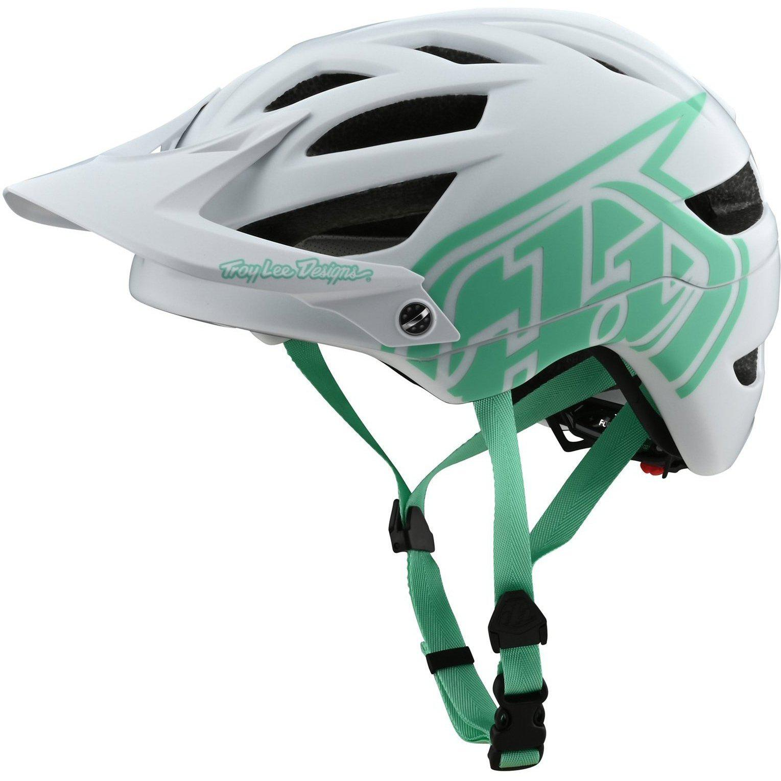 Troy Lee Designs-Troy Lee Designs A1 Drone Helmet-Drone - White/Aqua-M/L-TLD131097133-saddleback-elite-performance-cycling