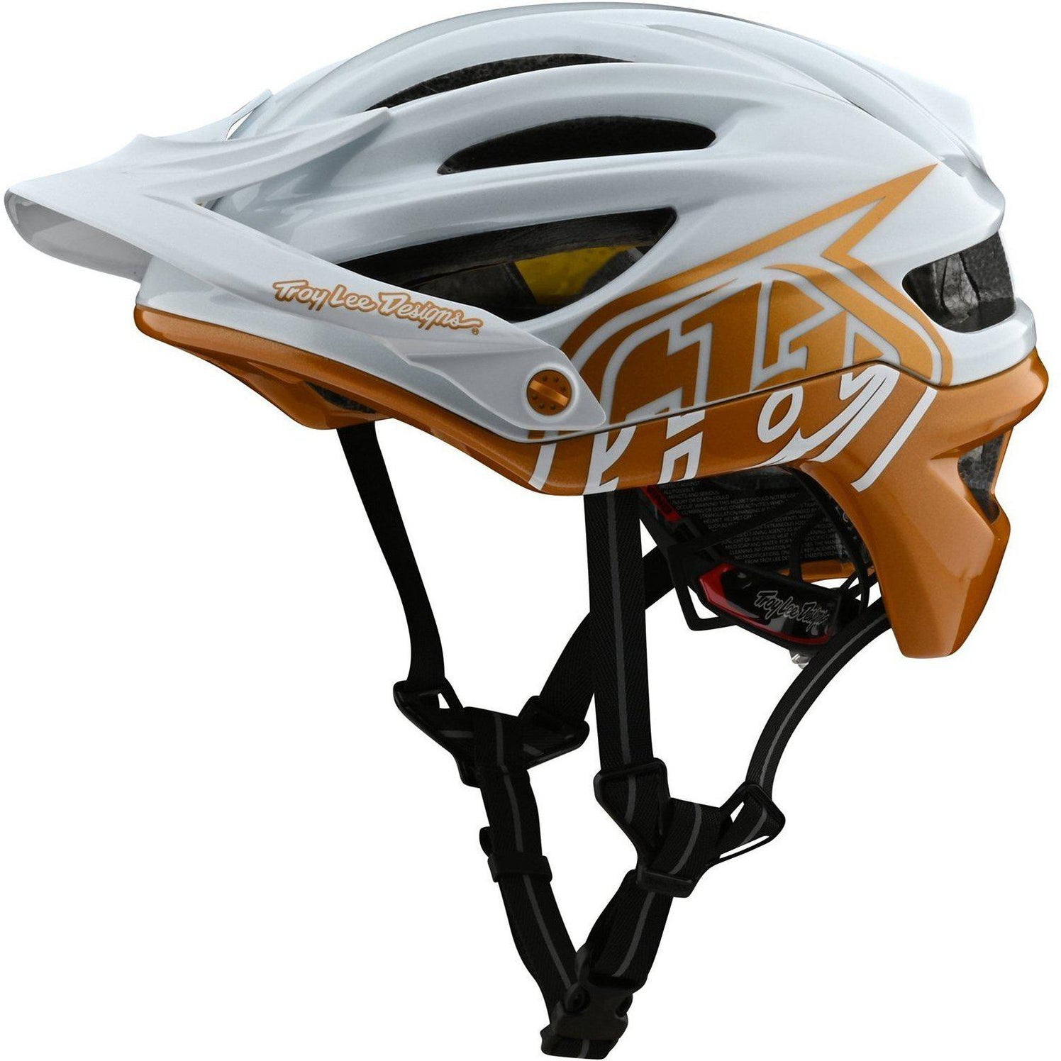 Troy Lee Designs-Troy Lee Designs A2 MIPS Helmet-Decoy - Pearl White/Gold-M/L-TLD191485043-saddleback-elite-performance-cycling