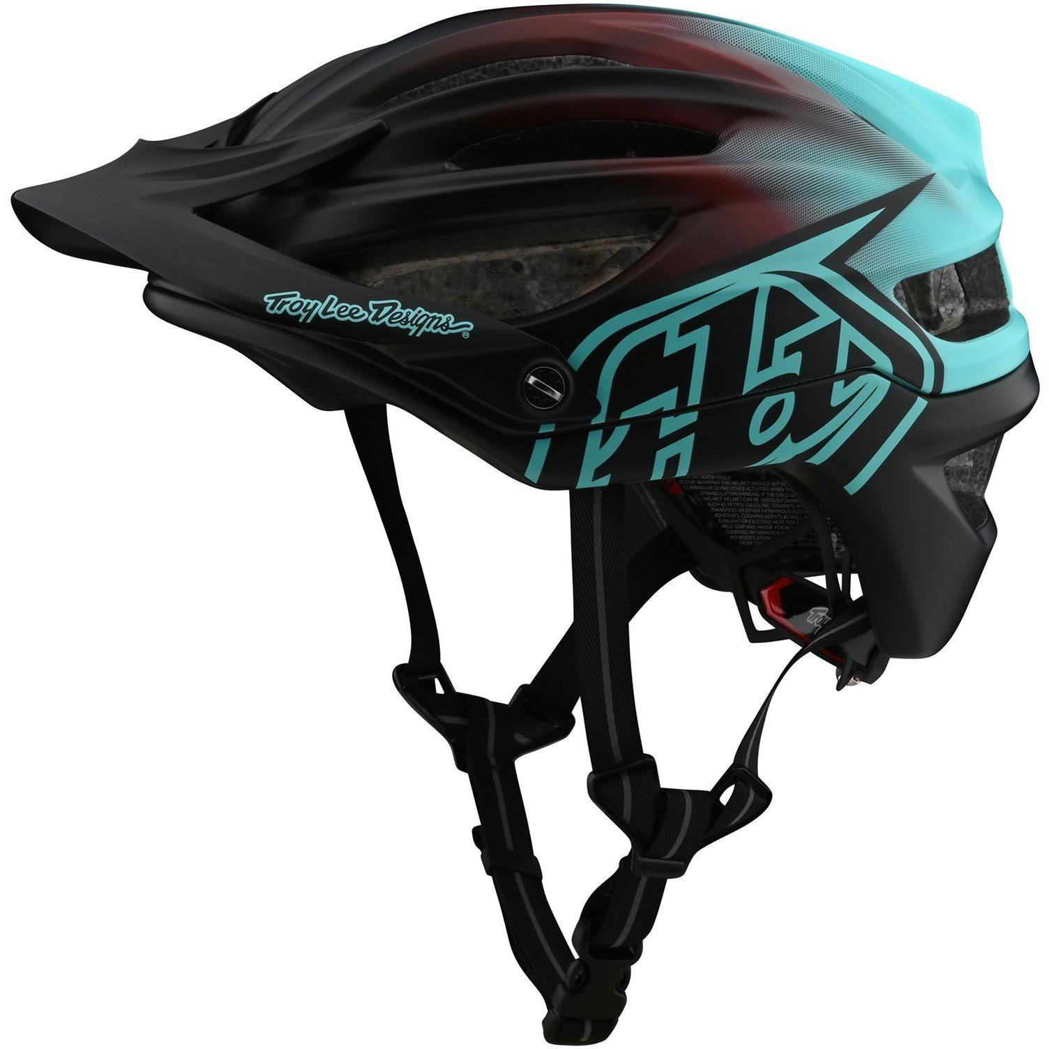 Troy Lee Designs-Troy Lee Designs A2 MIPS Helmet-Stain'D - Black/Turquoise-M/L-TLD191783013-saddleback-elite-performance-cycling
