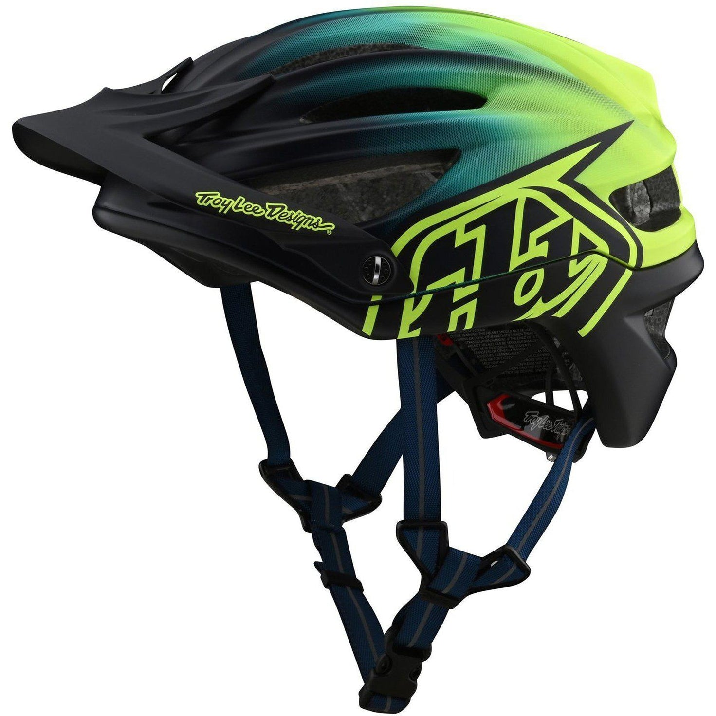 Troy Lee Designs-Troy Lee Designs A2 MIPS Helmet-Stain'd - Navy/Yellow-M/L-TLD191783003-saddleback-elite-performance-cycling