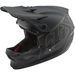 Troy Lee Designs-Troy Lee Designs D3 Fiberlite Helmet-Mono - Black-L-TLD198002204-saddleback-elite-performance-cycling