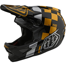Troy Lee Designs-Troy Lee Designs D3 Fiberlite Helmet-Raceshop - Black/Gold-L-TLD198208004-saddleback-elite-performance-cycling