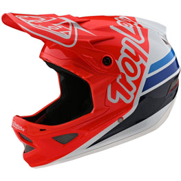 Troy Lee Designs-Troy Lee Designs D3 Fiberlite Helmet-Silhouette - Red/White-L-TLD198757014-saddleback-elite-performance-cycling
